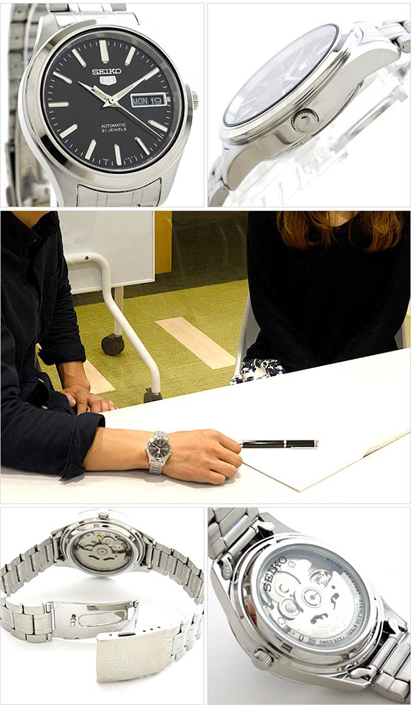 세이코 5 역수입 모델 SEIKO5 기계식(자동감김) SNKM47K1 [해외 수입품]맨즈 손목시계 시계