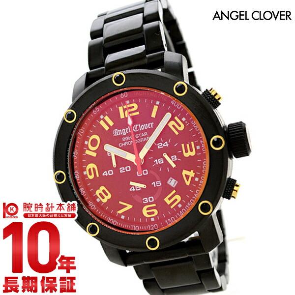 エンジェルクローバー 時計 AngelClover 【200本限定モデル】エイトスター ブラック ステンレス クロノグラフ NES46BGS [正規品] メンズ 腕時計