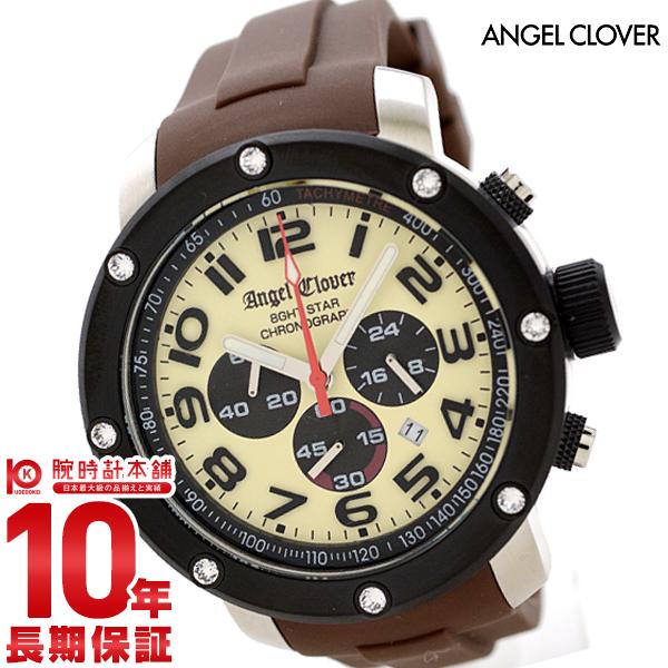 エンジェルクローバー 時計 AngelClover エイトスター アイボリー ステンレス クロノグラフ NES46BSB-LB [正規品] メンズ 腕時計