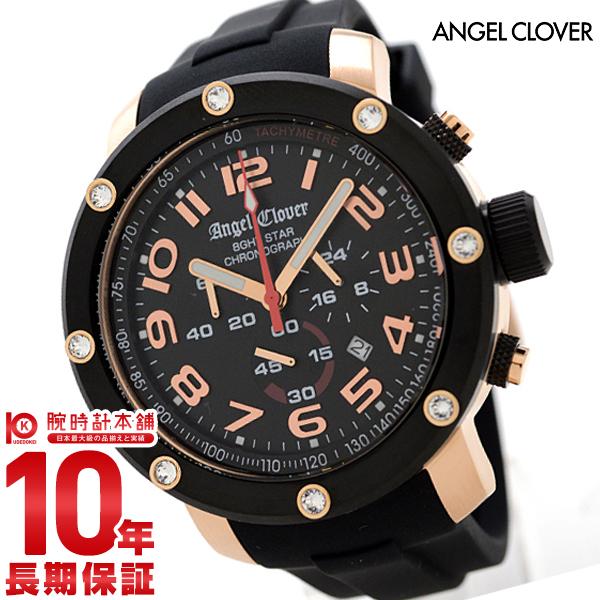 エンジェルクローバー 時計 AngelClover エイトスター ブラック ステンレス クロノグラフ NES46PBK-BK [正規品] メンズ 腕時計