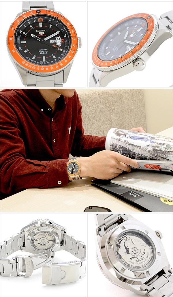 세이코 5 역수입 모델 SEIKO5 100 m방수 기계식(자동감김/손으로 말기) SRP611K1 [해외 수입품]맨즈 손목시계 시계