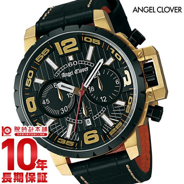 【本日ポイント最大26倍!】【最大2000円OFFクーポン!16日1:59まで】エンジェルクローバー 時計 AngelClover タイムクラフト ブラック ステンレスケース クロノグラフ NTC48YBK-BK [正規品] メンズ 腕時計