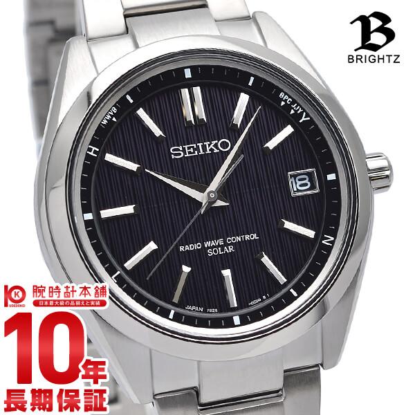 セイコー ブライツ BRIGHTZ ソーラー電波 10気圧防水 ブラック×シルバー SAGZ083 [正規品] メンズ 腕時計 時計【24回金利0%】 父の日 プレゼント ギフト