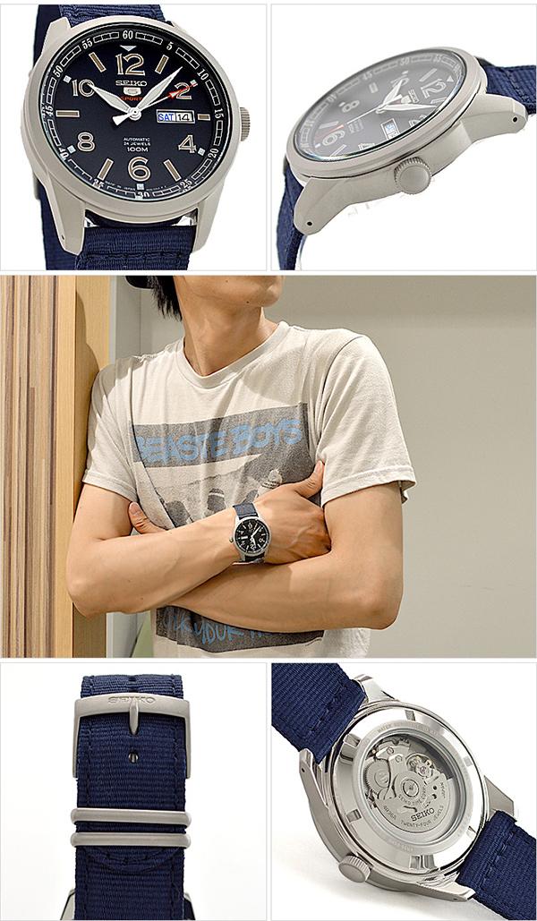 세이코 5 역수입 모델 SEIKO5 100 m방수 기계식(자동감김) SRP623J1 [해외 수입품]맨즈 손목시계 시계