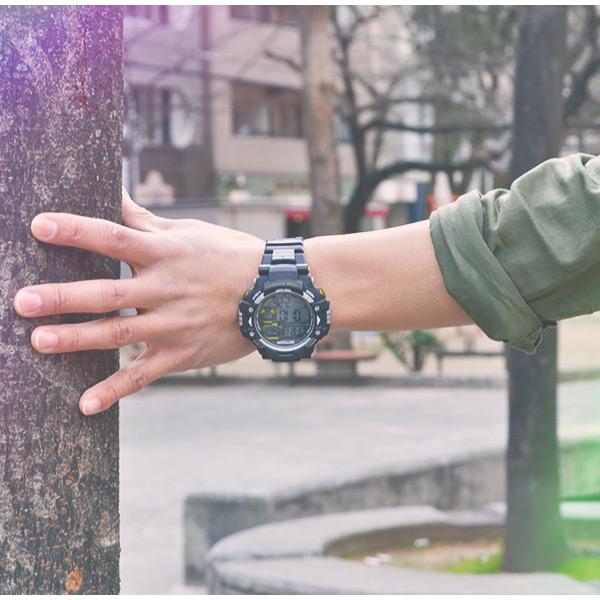 MIYKON 메 컴 모름 강력한 디지털 시계의 스톱 워치 100m 방수 전 3 색 남자 시계 생일 입학 취업 기념일