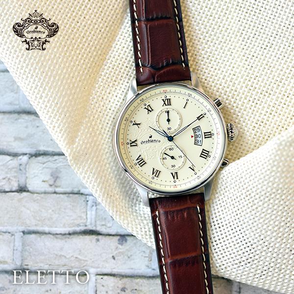 【3000円割引クーポン】オロビアンコ 時計 腕時計 メンズ TIME-ORA タイムオラ エレット ELETTO OR-0040-1 Orobianco 正規品