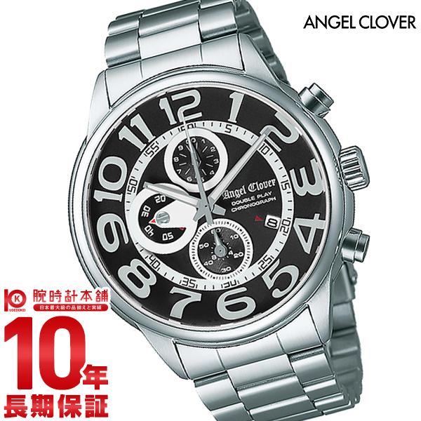 エンジェルクローバー 時計 AngelClover ダブルプレイ ブラック 10気圧防水 DP44SBK [正規品] メンズ 腕時計【あす楽】