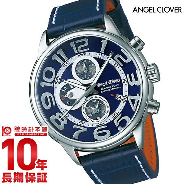 【店内最大37倍!28日23:59まで】【1000円割引クーポン】エンジェルクローバー 時計 AngelClover ダブルプレイ ネイビー 10気圧防水 DP44SNV-NV [正規品] メンズ 腕時計