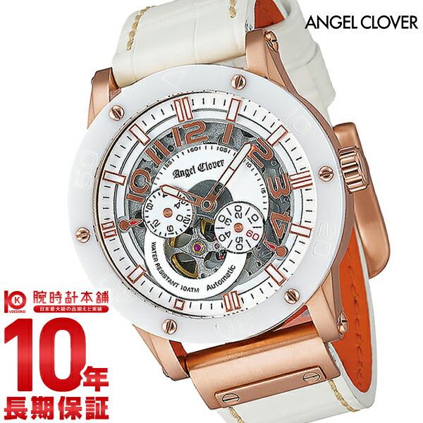 【24回金利0%】エンジェルクローバー 時計 AngelClover エクスベンチャー ホワイト 自動巻 EVA43PWH-WH [正規品] メンズ 腕時計