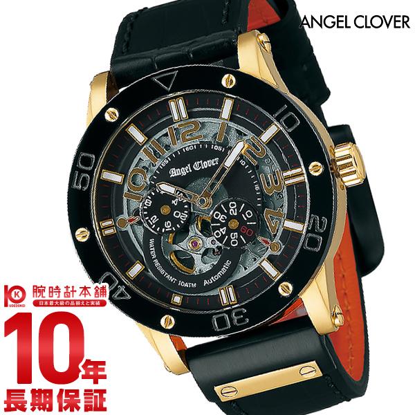 【ポイント最大24倍!9日20時より】【24回金利0%】エンジェルクローバー 時計 AngelClover エクスベンチャー ブラック 自動巻 EVA43YBK-BK [正規品] メンズ 腕時計