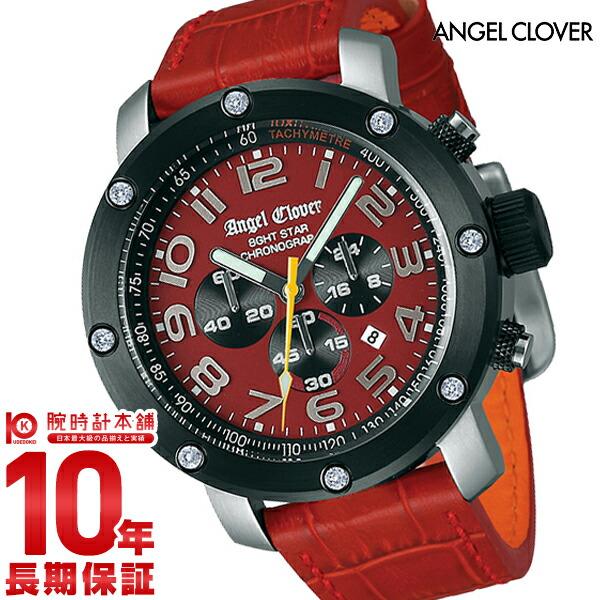 エンジェルクローバー 時計 AngelClover エイトスター レッド クロノグラフ NES46SRE-LEATHER [正規品] メンズ 腕時計【あす楽】