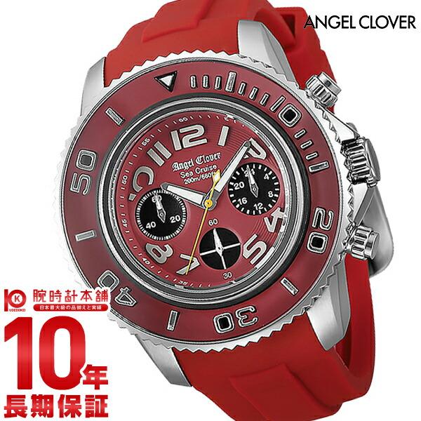 【店内最大37倍!28日23:59まで】エンジェルクローバー 時計 AngelClover シークルーズ レッド クロノグラフ 200m防水 SC47SRE-RE [正規品] メンズ 腕時計