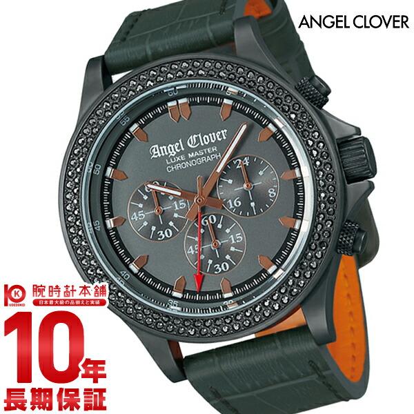 最大1200円割引クーポン対象店 エンジェルクローバー 時計 AngelClover リュクスマスター グレー クロノグラフ スワロフスキー LM46GMZ-GR [正規品] メンズ 腕時計