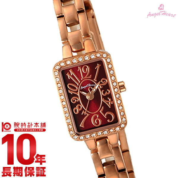 最大1200円割引クーポン対象店 エンジェルハート 腕時計 AngelHeart トゥインクルハート ボルドー スワロフスキー TH16PR [正規品] レディース 時計【あす楽】