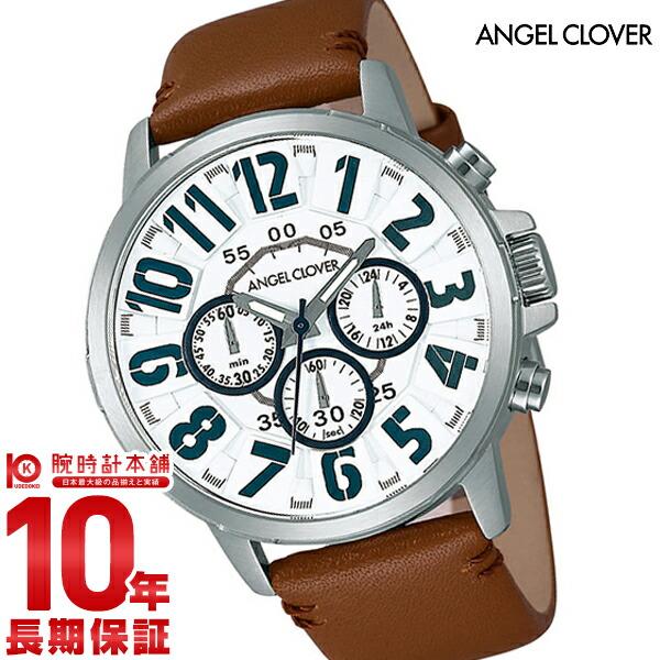 最大1200円割引クーポン対象店 エンジェルクローバー 時計 AngelClover Bump ホワイト クロノグラフ BU44SWHBR [正規品] メンズ 腕時計