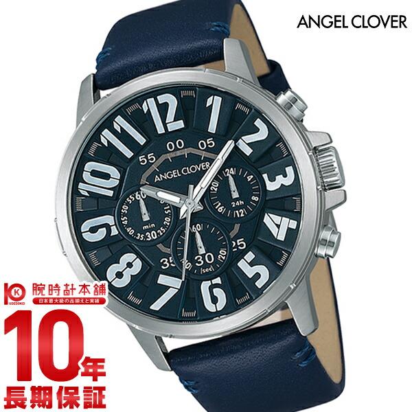 エンジェルクローバー 時計 AngelClover Bump ブラック クロノグラフ BU44SNVNV [正規品] メンズ 腕時計