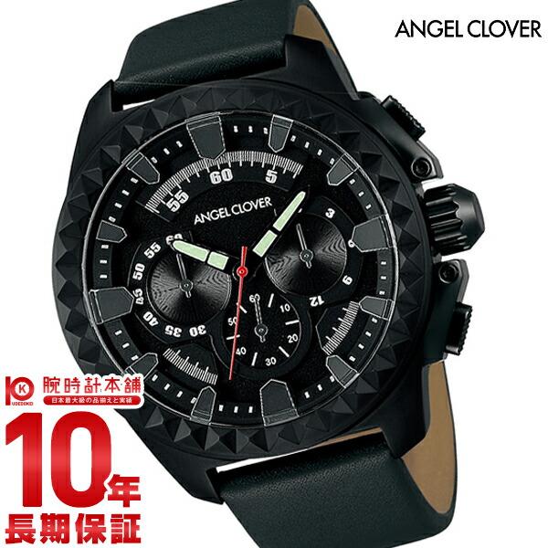 エンジェルクローバー 時計 AngelClover Rugged ブラック クロノグラフ RG46BBK-GRY [正規品] メンズ 腕時計