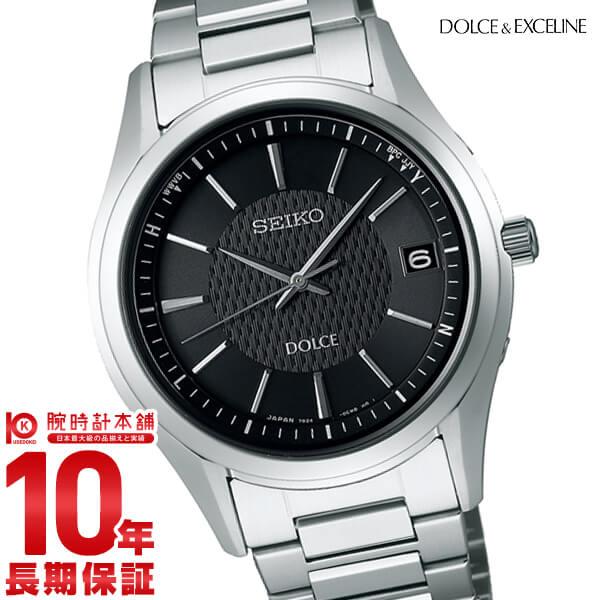 セイコー ドルチェ&エクセリーヌ DOLCE&EXCELINE 10気圧防水 ソーラー ブラック×シルバー SADZ187 [正規品] メンズ 腕時計 時計【36回金利0%】