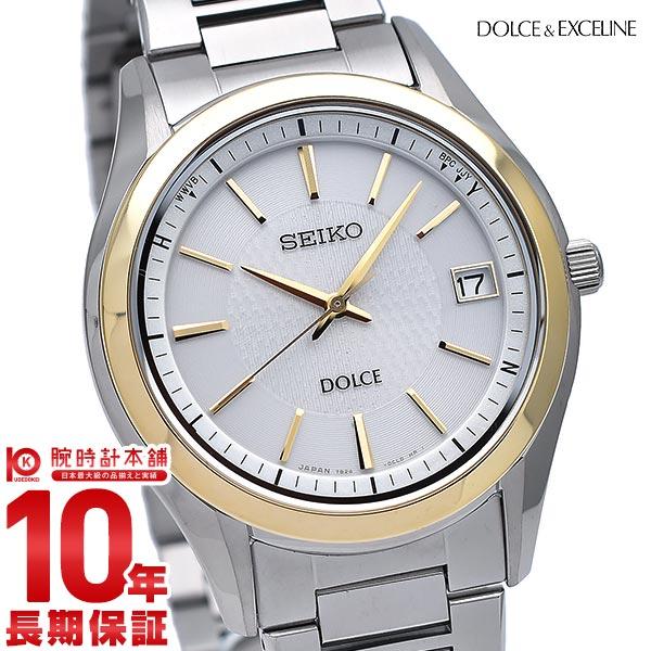 セイコー ドルチェ&エクセリーヌ DOLCE&EXCELINE 10気圧防水 ソーラー シルバー×ゴールド SADZ188 [正規品] メンズ 腕時計 時計【36回金利0%】【あす楽】