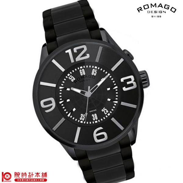 最大1200円割引クーポン対象店 ロマゴデザイン ROMAGODESIGN NUMERATION ヌメレーション RM007-0053SS-BK [正規品] メンズ&レディース 腕時計 時計