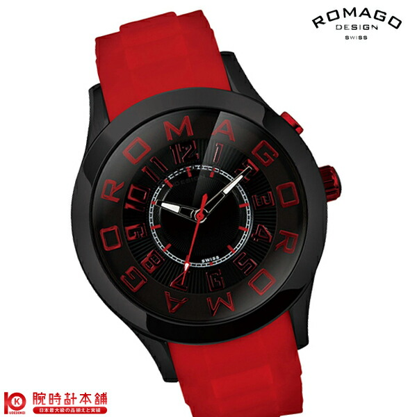 最大1200円割引クーポン対象店 ロマゴデザイン ROMAGODESIGN ATTRACTION アトラクション RM015-0162PL-BKRD [正規品] メンズ&レディース 腕時計 時計