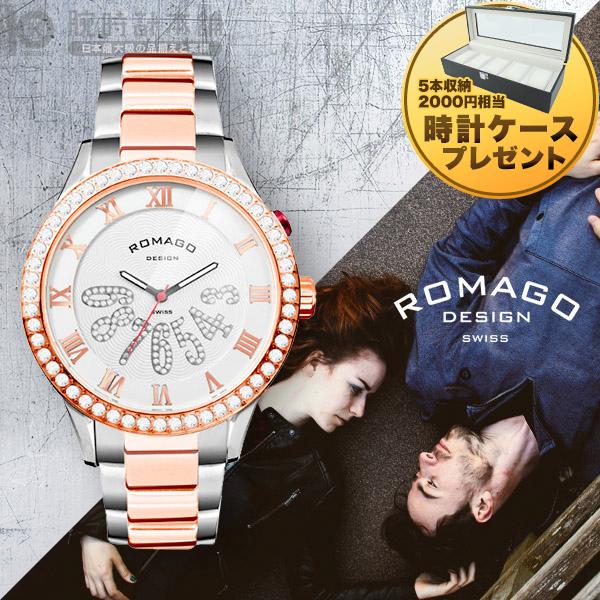 【当店限定2000円割引クーポン】ロマゴデザイン ROMAGODESIGN LUXURY ラグジュアリー RM019-0214SS-RGWH [正規品] メンズ&レディース 腕時計 時計