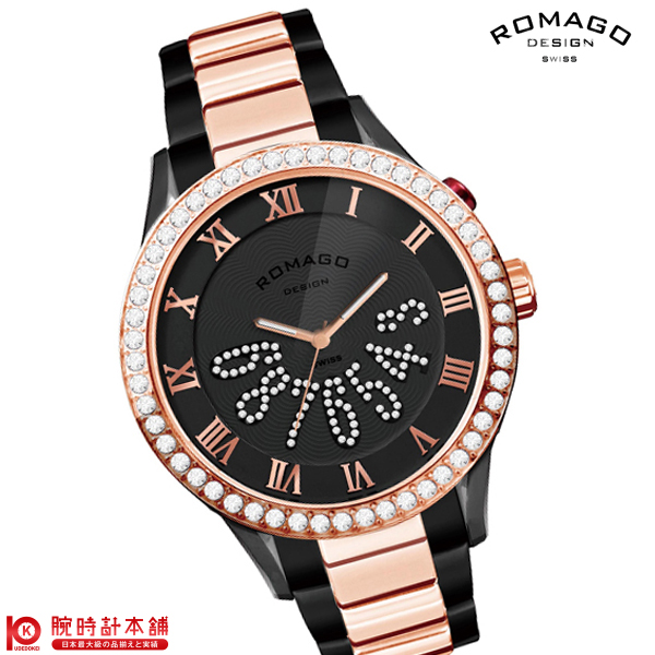 【2000円割引クーポン】ロマゴデザイン ROMAGODESIGN LUXURY ラグジュアリー RM019-0214SS-RGBK [正規品] メンズ&レディース 腕時計 時計
