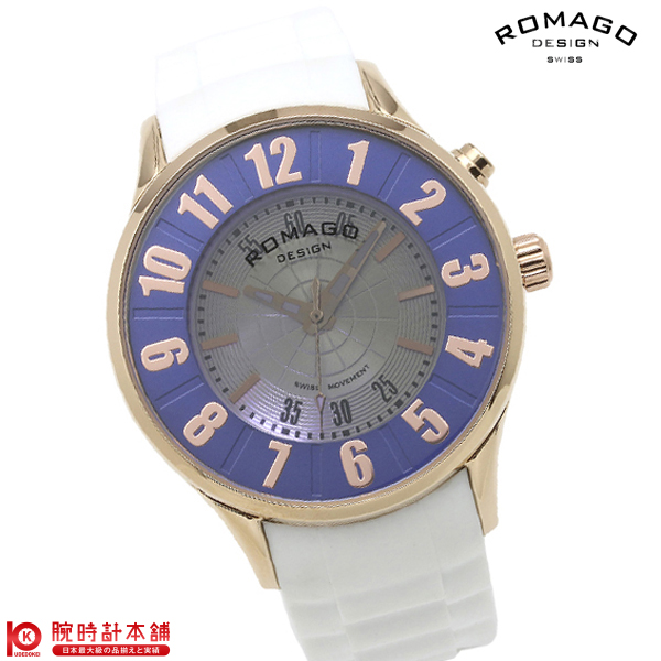 【2000円割引クーポン】ロマゴデザイン ROMAGODESIGN NUMERATION ヌメレーション RM068-0053PL-RGBU [正規品] メンズ&レディース 腕時計 時計