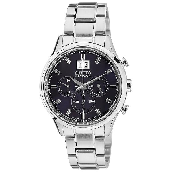 51626353e9 セイコー逆輸入モデルクロノグラフCHRONOGRAPHSPC081P1メンズ腕時計クオーツカジュアル ...