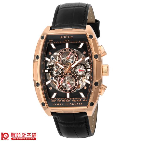 ゾンネ SONNE ゾンネ×ハオリ 岩城滉一 コラボモデル H018PG-BK [正規品] メンズ 腕時計 時計