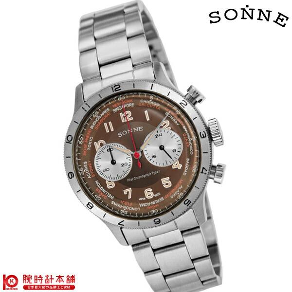 最大1200円割引クーポン対象店 ゾンネ SONNE パイロットクロノグラフタイプ1 HI003BR [正規品] メンズ 腕時計 時計