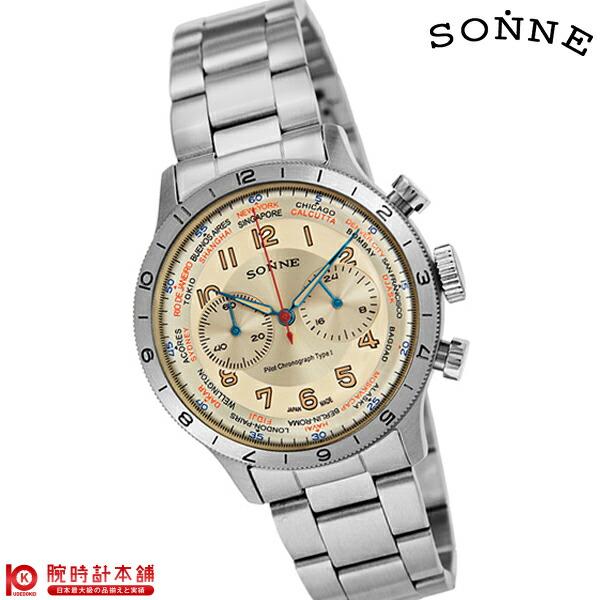 【店内最大37倍!28日23:59まで】ゾンネ SONNE パイロットクロノグラフタイプ1 HI003IV [正規品] メンズ 腕時計 時計