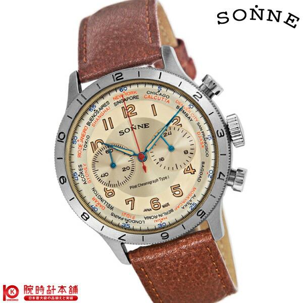 ゾンネ SONNE パイロットクロノグラフタイプ1 HI003IV-BR [正規品] メンズ 腕時計 時計