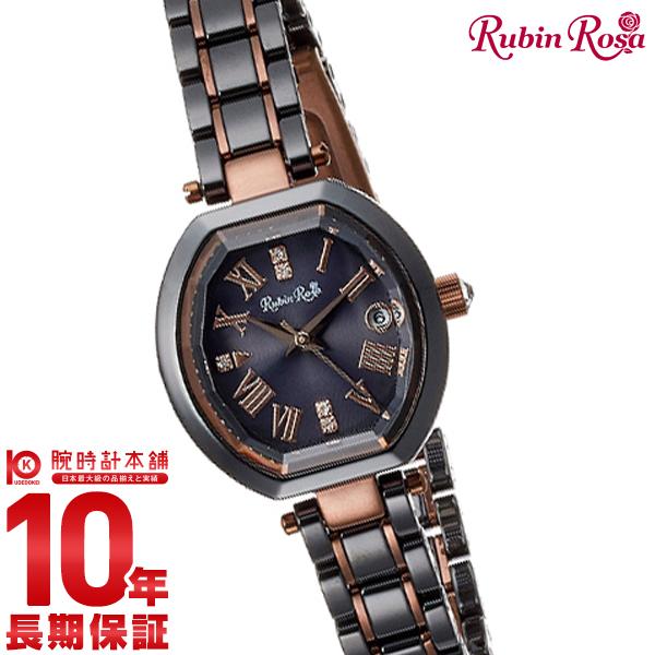 【1000円割引クーポン】ルビンローザ 時計 RubinRosa R308BRBK レディース
