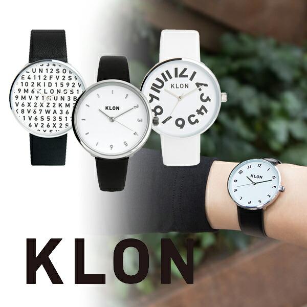 最大1200円割引クーポン対象店 クローン KLON シンプルウォッチ ブラック ホワイト [正規品] メンズ&レディース ペア 腕時計 時計