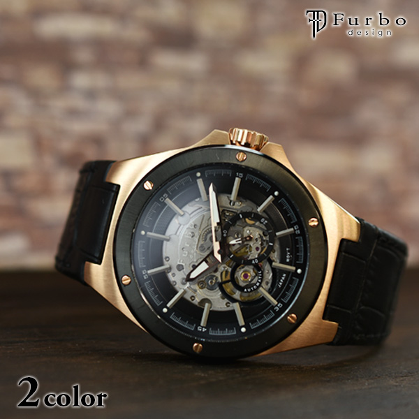 フルボ 時計 フルボデザイン 腕時計 Furbo F2501PBKBK メンズ【あす楽】