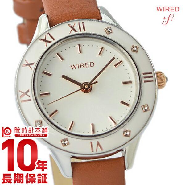 セイコー ワイアード エフ SEIKO WIRED f AGEK442 腕時計 レディース ブラウン ホワイト スワロフスキー 革バンド