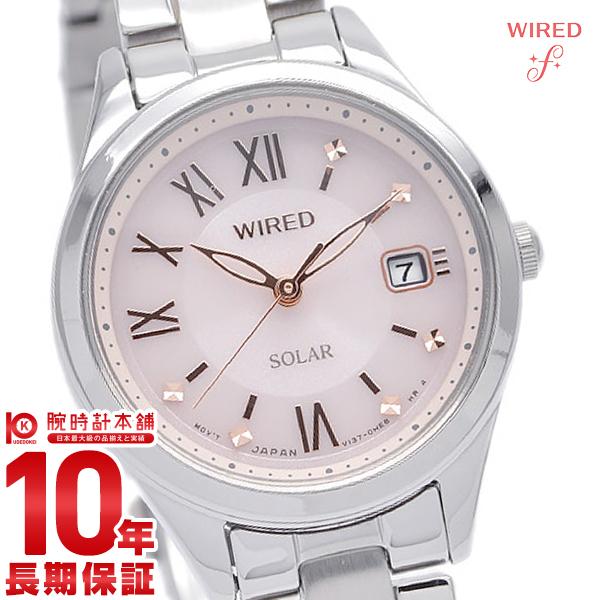 セイコー ワイアード エフ SEIKO WIRED f AGED105 腕時計 レディース ソーラー ペア シルバー ピンク カレンダー