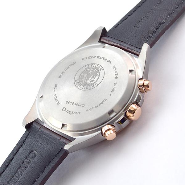 腕時計 メンズ ブラック 革ベルト ソーラー アテッサ (2019年7月上旬入荷予定) チタン エコドライブ シチズン CITIZEN ATTESA CA4395-01E ブラウン クロノグラフ