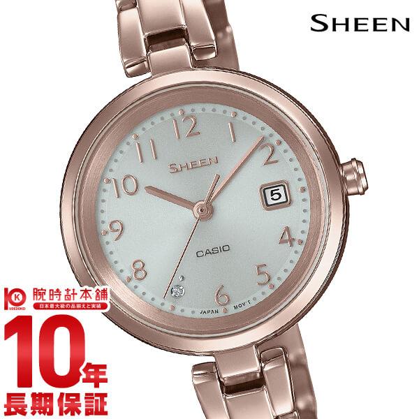 最大1200円割引クーポン対象店 カシオ シーン SHEEN ソーラー SHS-D200CG-4AJF レディース