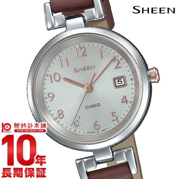最大1200円割引クーポン対象店 カシオ シーン SHEEN ソーラー SHS-D200L-4AJF レディース