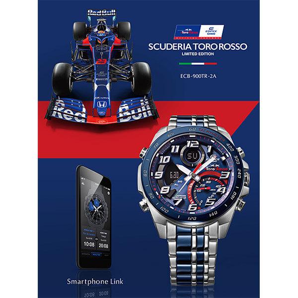 エディフィス EDIFICE Scuderia Toro Rosso Limited Edition ECB-900TR-2AJR メンズ カシオ