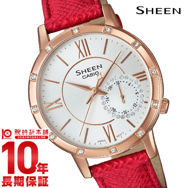 最大1200円割引クーポン対象店 カシオ シーン SHEEN SHE-3046GLP-7BJF レディース