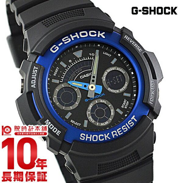 【カシオ Gショック G-SHOCK STANDARD アナログ/デジタルコンビネーションモデル ブルー×ブラック AW-591-2AJF [正規品] メンズ 腕時計 時計(予約受付中)