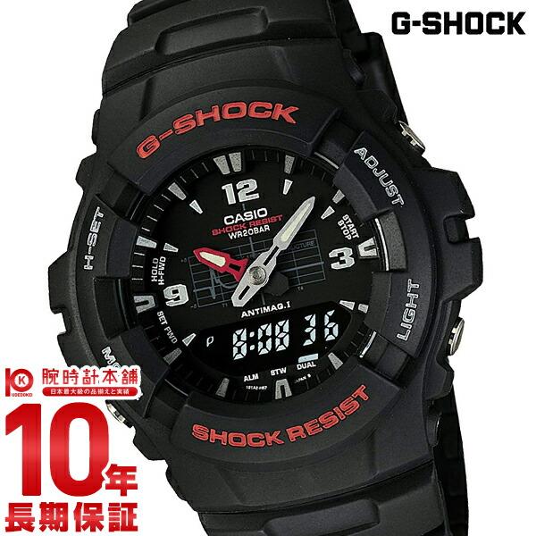 【店内ポイント最大43倍&最大2000円OFFクーポン!9日20時から】カシオ Gショック G-SHOCK STANDARD BASIC アナログ/デジタルコンビネーションモデル G-100-1BMJF [正規品] メンズ 腕時計 時計