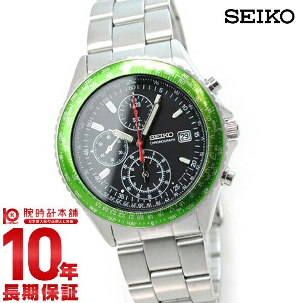 セイコー メンズ SEIKO 先行限定販売モデル パイロット クロノグラフ グリーン 100m防水 SZER033 [正規品] メンズ 腕時計 時計【あす楽】