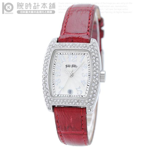 【最安値挑戦中】フォリフォリ FolliFollie ストーン S922ZI SLV/RED [海外輸入品] レディース 腕時計 時計