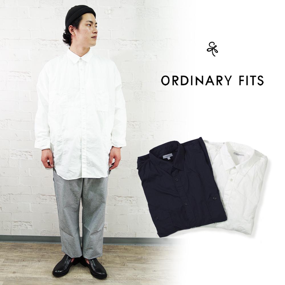オーディナリーフィッツ ビッグワークシャツ メンズ レディース ORDINARY FITS BIG WORK ワークシャツ 春夏 おしゃれ 国内即発送 正規品送料無料 ビッグシャツ シャツ 即日発送 大きめサイズ SHIRTS