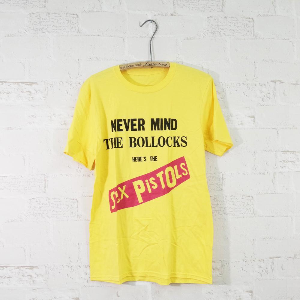 セックス ピストルズのアルバムジャケットをプリントしたオフィシャルTeeシャツ MUSIC Tee ミュージックティー NEVER THE PISTOLS BOLLOKS-SEX セックスピストルズ 捧呈 MIND 海外輸入