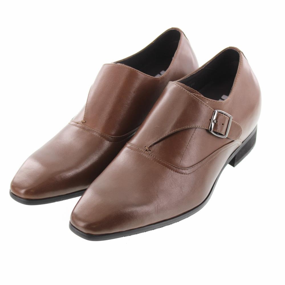 【7cmUP】+7cmUP シークレットシューズ 7_biz_001 ビジネスタイプ ビジネスシューズ 靴 結婚式 本革 7cm背が高くなる シークレットブーツ シークレット メンズ ブラウン
